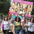 """Women in white, Jews and Arabs, and like-minded men, marched together along Ben Tsion Boulevard from King George street to the corner of Rothschild Boulevard and HaBima Theater. There was a lot of energy, with calls shouted out to the rhythm given by Asma Aghbarieh-Zahalka of Daam on the megaphone. She shouted: """"chauvinism"""" and the marchers answer """"irhal"""" (""""go away"""" in Arabic). """"Exploitation of working women – irhal, sexual assault – irhal, military strikes – irhal""""… The Boulevard is too short, it turns out, for real protest. (""""Irhal"""", in Arabic, you may recall, is the word Egyptian protesters shouted out, calling Mubarak to leave.)"""