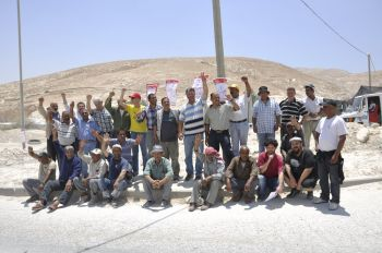 On June 16, 35 Palestinian workers at Salit Quarries in Mishor Adumim (a settlement area east of Jerusalem) began a general strike. The workers, organized with the independent Union WAC-Ma'an, are demanding an end to exploitation and humiliation, and insist on signing a first collective agreement. The strike began after the workers and the union approved a draft agreement, while the management tried to take advantage of the opposition of a small number of more privileged workers in order to break the union and avoid the agreement. WAC and the workers demand that the agreement be signed immediately. If the agreement is not signed, the strike will continue.