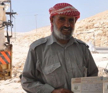 Haj Muhammad Fukara is the living spirit of the ongoing strike at the Salit quarry. For 27 of his 52 years he has worked here, almost from the day it was opened beside his family's shacks. These are in a wadi near Mishor Adumim, a few miles east of Jerusalem. Fukara has always known the place as Khan al-Akhmar, the Red Caravanserai.