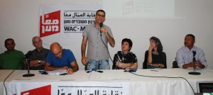 <p> In a unique assembly organized by WAC-MAAN in East Jerusalem, the independent union stressed its commitment to build a union of workers who are not indifferent to the suffering of others, who fight to topple the walls of prejudice.</p>