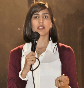 Rawiya Handaklu, a lawyer and feminist activist