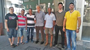 The Yehuda Fences workers' committee with WAC activists, September 2016