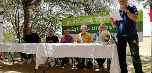 Over 100 people gathered to commemorate May Day in the Al Fasaeil Park north of Jericho on May 4. Those present were Palestinian workers and activists from Area C, women […]